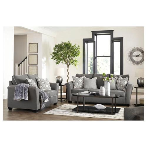 Domani- Charcoal Sofa and Loveseat