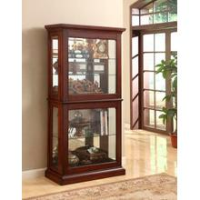 JGW FURNITURE C104 Cherry Double Door Curio