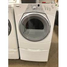 Used White w/ Gray Accents Duet Sport® Electric Dryer with Pedestal