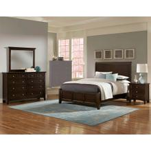 Queen Merlot 4 PC Bedroom Set - Sleigh Bed