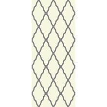 Deluxe Shag Trellis Ivory-Grey 8x11 Rug