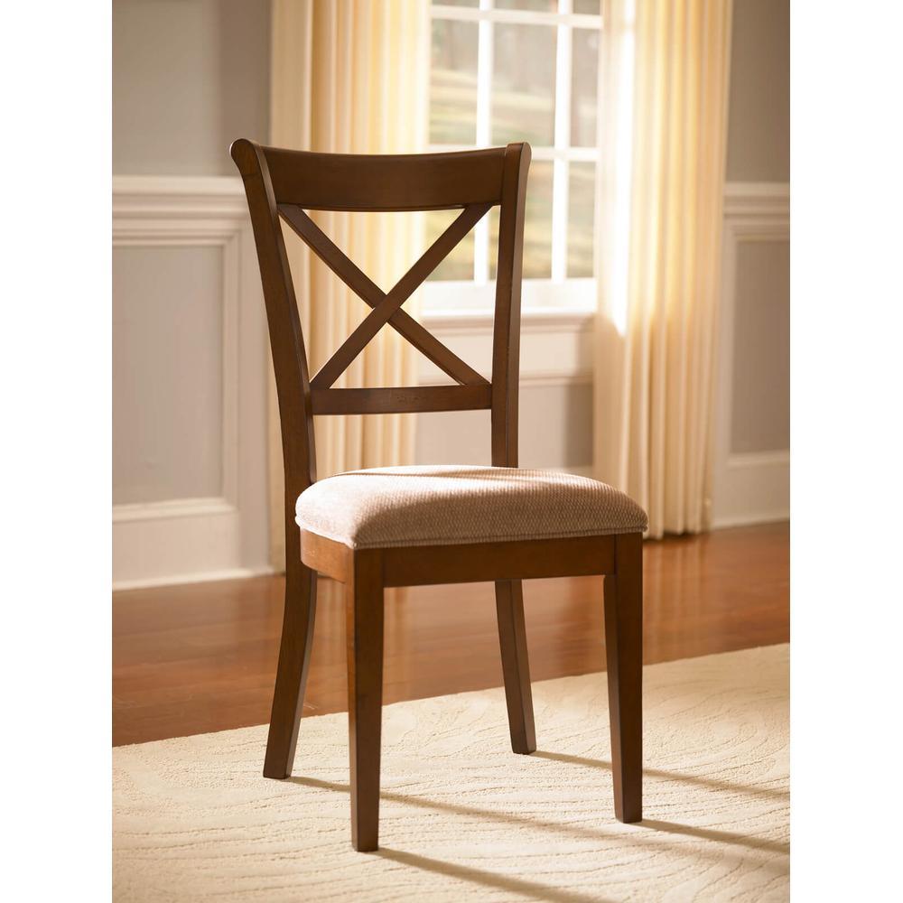 DES-SI-2-47-K X-Back Side Chair W/ Uph Seat De Soto 4 Piece Set