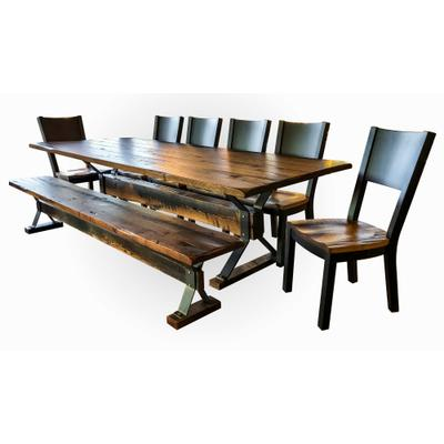 Beam Trestle Dining Room Set