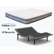 THERAPEDIC Hybrid Mattress & REVERIE Adjustable Power Base- QUEEN