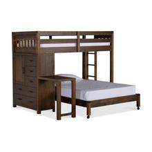 St. Croix Twin/Full Loft Bed With Desk