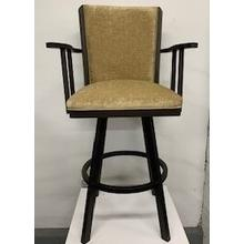 """See Details - """"Humphrey"""" Swivel Bar Stool with Arms"""