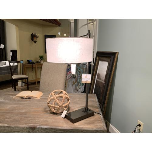 Industrial Modern Table Lamp with Drum Shade