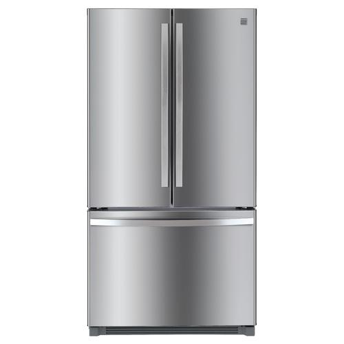 Kenmore 73025 26.1 cu. ft. French Door Refrigerator with Ice Maker  Fingerprint Resistant Stainless Steel (This may be a Stock Photo, actual unit (s) appearance may contain cosmetic blemishes. Please call store if you would like additional pictures). This unit carries our 6 Month warranty, MANUFACTURER WARRANTY and REBATE NOT VALID with this item. ISI 40491 W