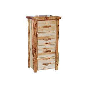 4 Drawer Chest Flat Front Wild Panel Natural Log