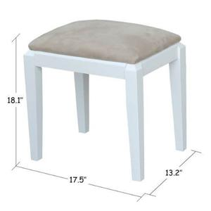 Upholstered Vanity Bench - Whtie