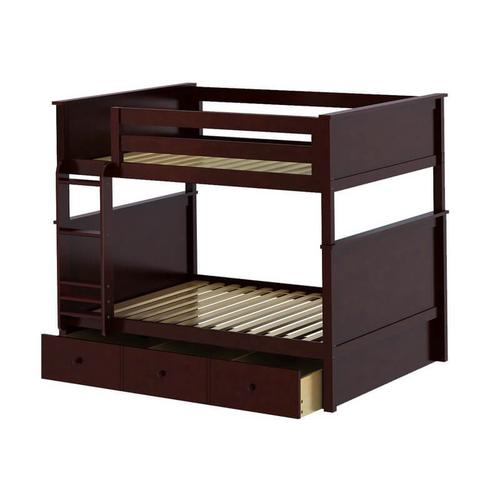 Jackpot Kent Full/Full Bunk   Trundle Storage In Cherry Finish