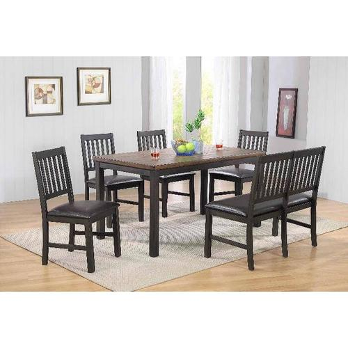 E.C.I. - E.C.I. 1859 Ashford Leg Table with Bench and 4 Side Chairs