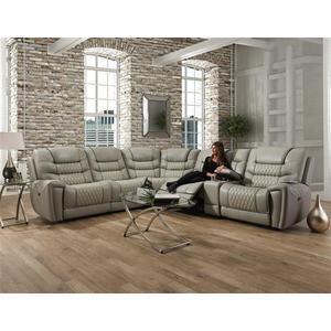 Corinthian Furniture - Breckenridge Light Grey Reclining Sectional