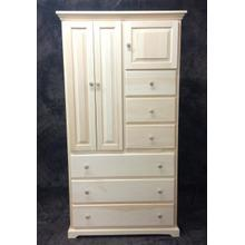 Maine Made 6 Drawer Armoire 38.5W X 72H X 20D Pine Unfinished