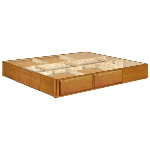 9 Inch Oak 4 Drawer Pedestal Available in King and Queen