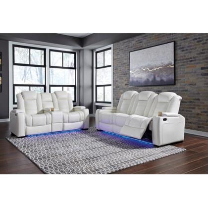 Party Time - White Reclining Sofa and Loveseat