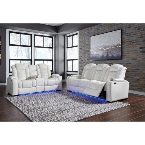Packages - Party Time - White Reclining Sofa and Loveseat