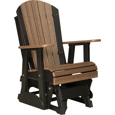 Adirondack Glider 2' Premium Antique Mahogany and Black