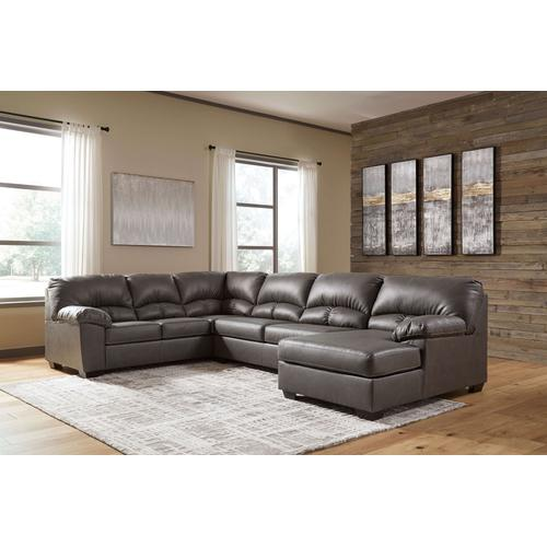 Alberton - Gray - 3-Piece Sectional with Right Facing Chaise