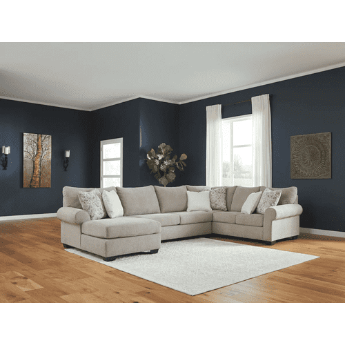 Baranello - Stone - 2-Piece Sectional with Left Facing Chaise