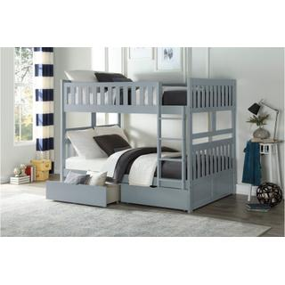 Orion Bunk Bed Full on Full with Drawers