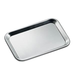 Cilio Stainless Steel Rectangular Serving Tray, 9.5 x 6.5-Inches