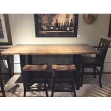 "Pub Table, 36""x72"", in Solid Tiger Maple with 2-Bar Chairs"