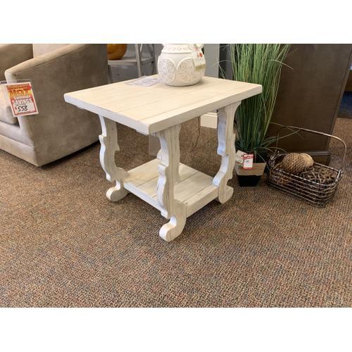 White Decorative Accent Table