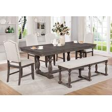 See Details - Regent Weathered Dining Room Set: Include Table, Bench & 4 Chairs