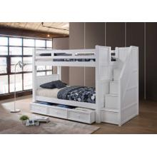 Twin/Twin Bunkbed with Step Drawers