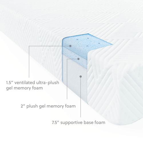 Cool Gel Memory Foam 11""