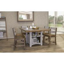 See Details - PUEBLO GRAY COUNTER HEIGHT TABLE