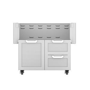 """36"""" Hestan Outdoor Tower Cart with Door/Drawer Combo"""