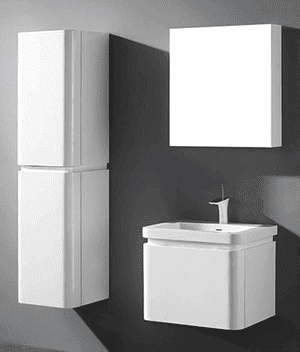 """Euro 24"""" wall-hung vanity in glossy white Product Image"""