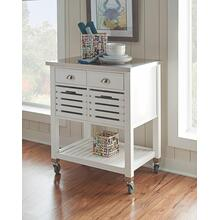Robbin Wood Kitchen Cart White