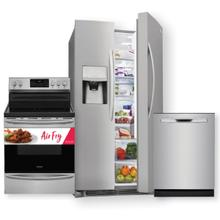 FRIGIDAIRE GALLERY 25.5 Cu. Ft. Side-by-Side Refrigerator & Electric Range w/ Air Fry 3-Piece Package