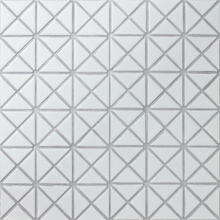 1 Pure Color Pattern Triangular Matte White Porcelain Mosaic Tile