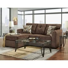 See Details - Kelly Chocolate Sofa Chaise
