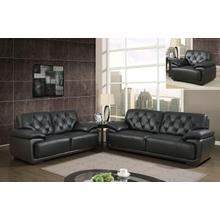 U1066-BL - Black - Love Seat