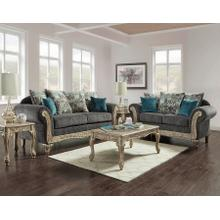 See Details - Wood Trimmed Chaise