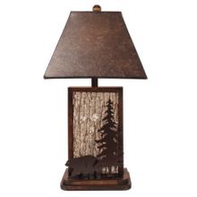 Aspen/Dark Bronze Poplar Bark with Iron Bear & Tree Accent