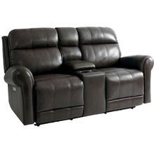 See Details - Everest Motion Loveseat w/ Power & Console in Nutmeg