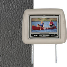 Dual Custom Headrest System with Built-in DVD Player. Chevy Trailblazer. The Color is Medium Dark Pewter.
