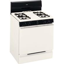 "Hotpoint® 30"" Biscuit Free-Standing Gas Range Electronic Ignition"