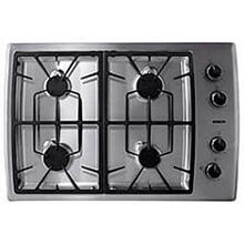 "30"" SS Gas Cooktop with 15,000 BTU High Output Burner"