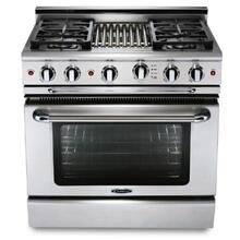 "36"" SS Pro-Style Gas Range with 6 Power-Flo Sealed Burners"