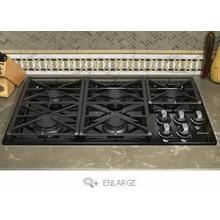 "Dacor 36""BLK Renaissance Gas Cooktop with 5 Sealed Burners"