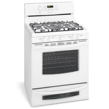 "Frigidaire 30"" WH Freestanding Natural Gas Range with 5 Sealed Burners"