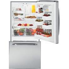 G.E 20.2 cu. ft. Bottom-Freezer Refrigerator with 4 Glass Shelves