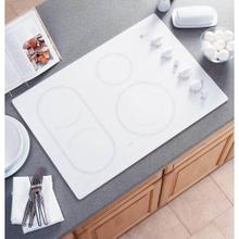 "GE 30"" WHT Built-In CleanDesign Electric Cooktop"